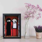 Quadro decorativo em canvas love wins