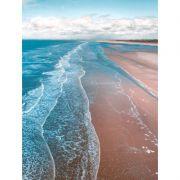 Quadro decorativo em canvas mar e areia