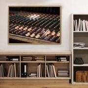 Quadro decorativo em canvas Mesa de som