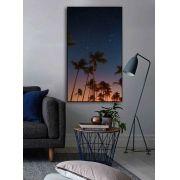 Quadro decorativo em canvas noite tropical