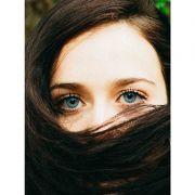 Quadro decorativo em canvas olhos azuis