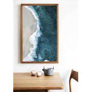 Quadro decorativo em canvas ondas e areia