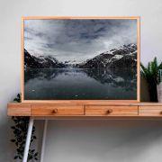 Quadro decorativo em canvas paisagem congelada