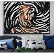 Quadro decorativo em canvas P&B by the Woman