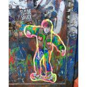 Quadro decorativo em canvas skate style