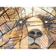 Quadro decorativo em canvas urso arte