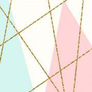 Quadro geométrico gold lines, no tecido canvas decorativo