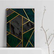Quadro Gold & black, decorativo em tela canvas