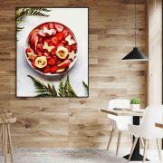 Salada de morango Quadro decorativo em canvas