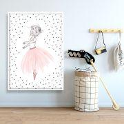 TUTU ROSA - Quadro decorativo em canvas