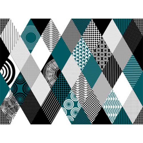 Blue diamonds, quadro decór em canvas