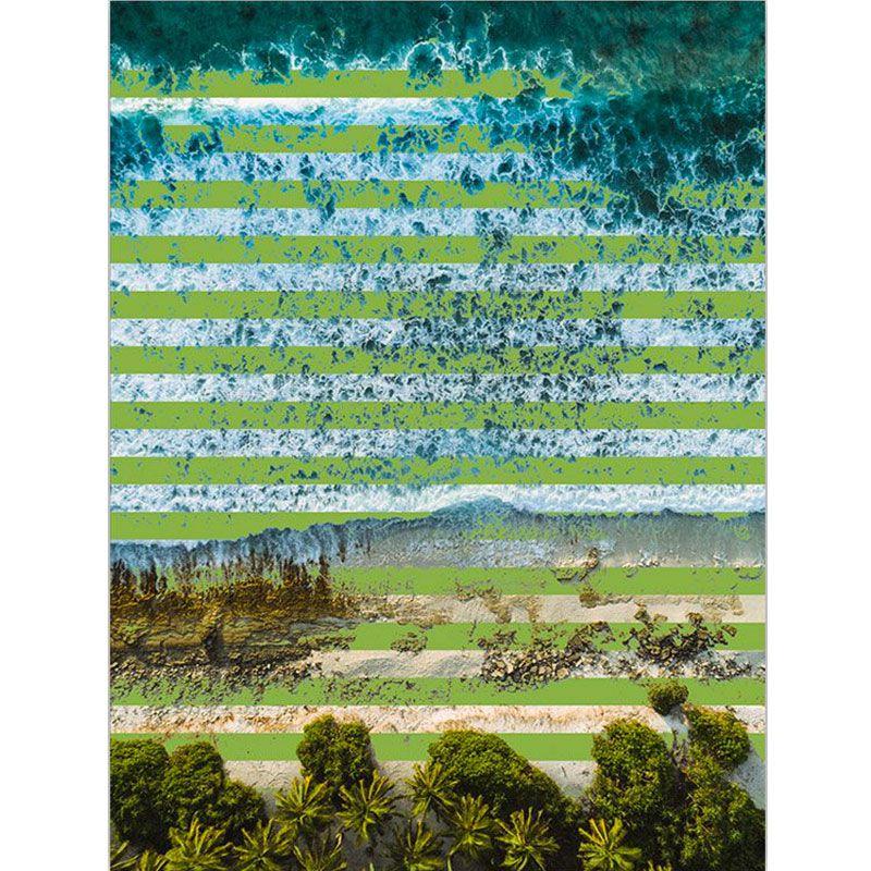 Green Stripes - Quadro decorativo em canvas