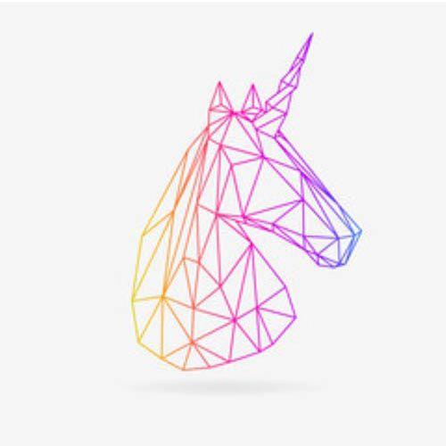 High Unicorn - quadro decorativo em canvas