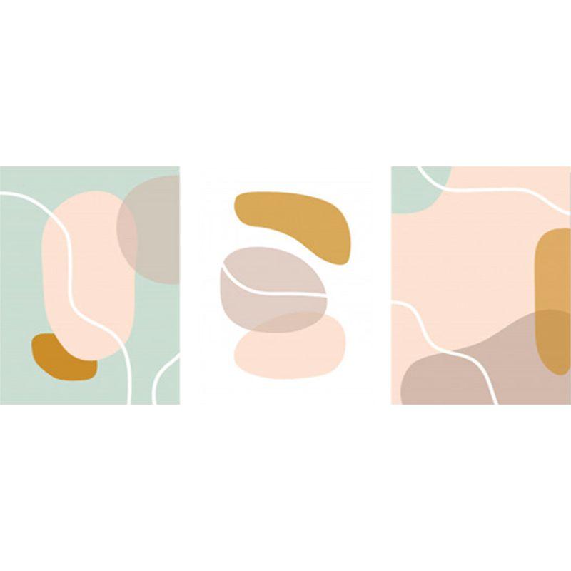Kit 3 Quadros decorativos em canvas Formas Cores Pastéis