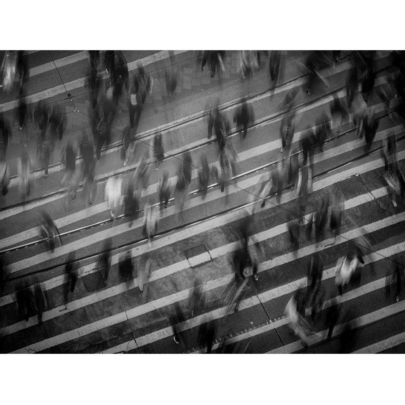 Pedestres correndo - Quadro decorativo em canvas