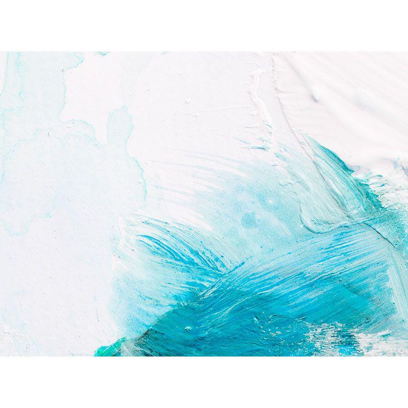 Quadro decorativo em canvas abstrato azul e branco