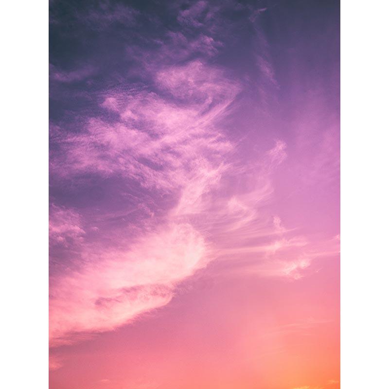 Quadro decorativo em canvas abstrato céu rosa