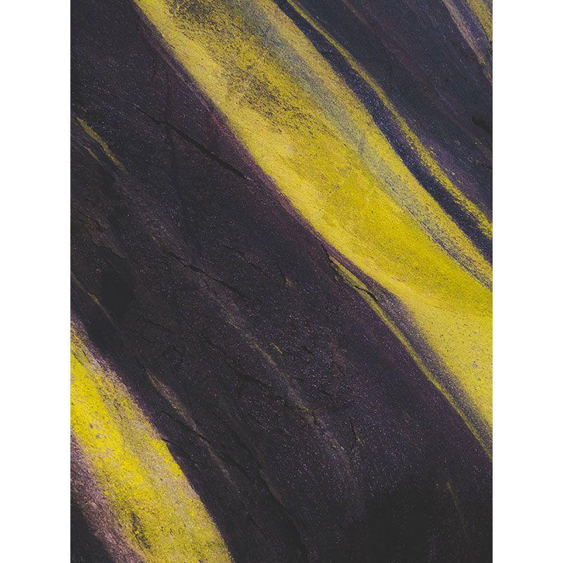Quadro decorativo em canvas abstrato cinza e amarelo