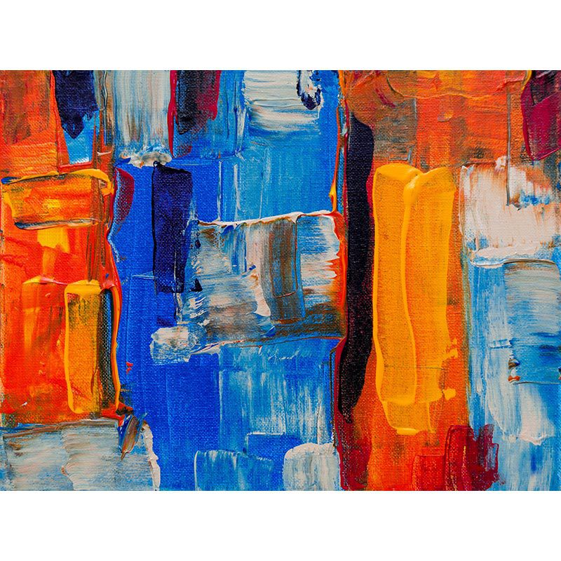 Quadro decorativo em canvas abstrato colorido