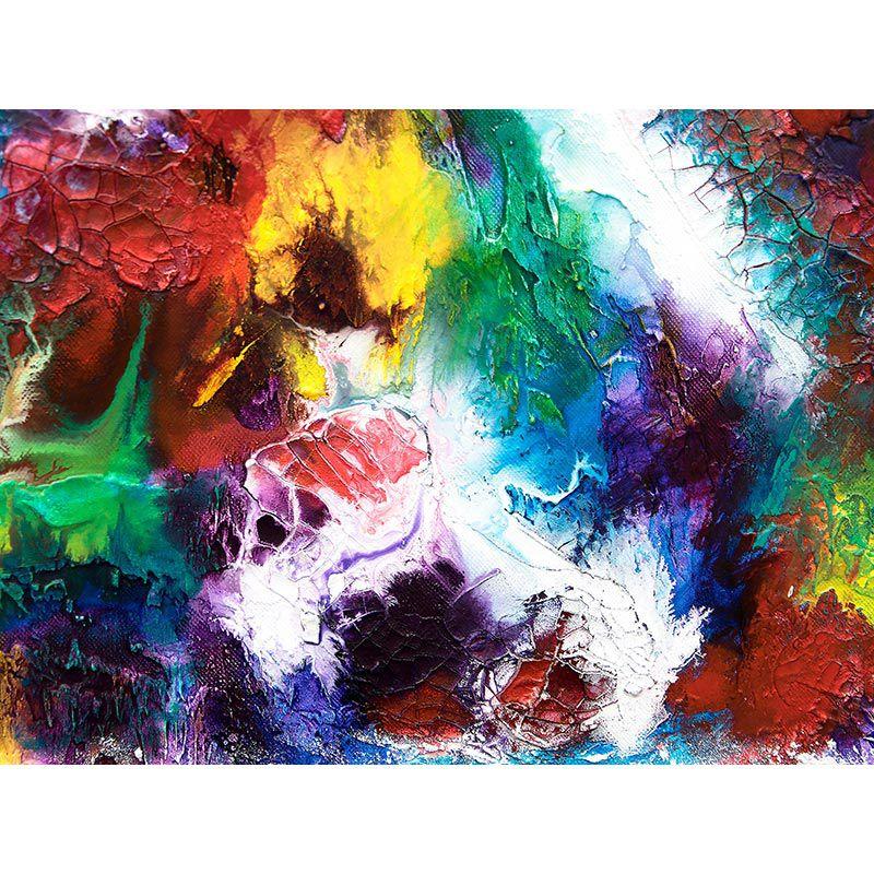 Quadro decorativo em canvas explosão de cores