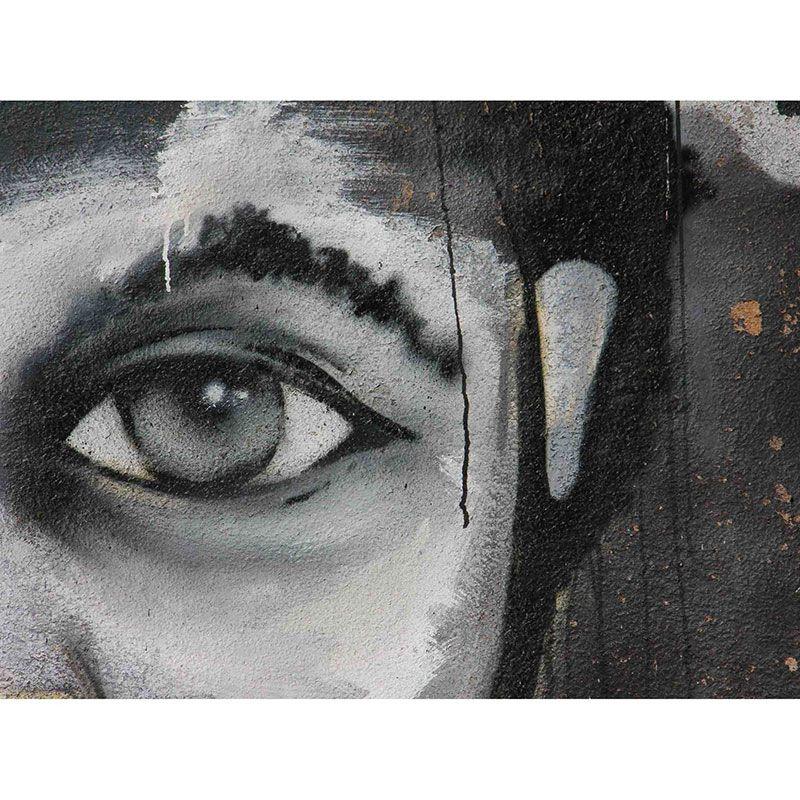 Quadro decorativo em canvas abstrato grafitado