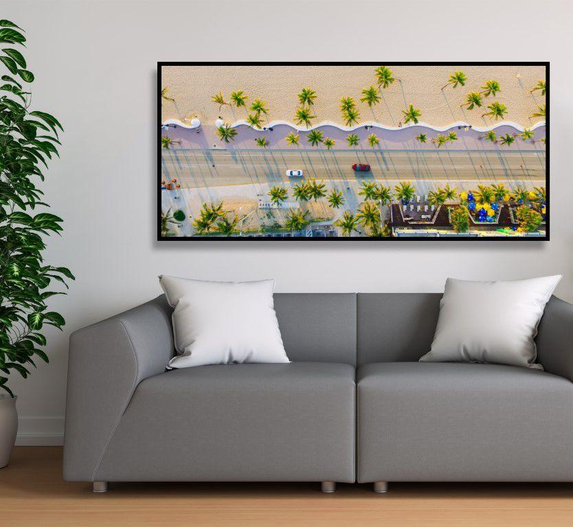 Quadro decorativo em canvas atlântica tropical