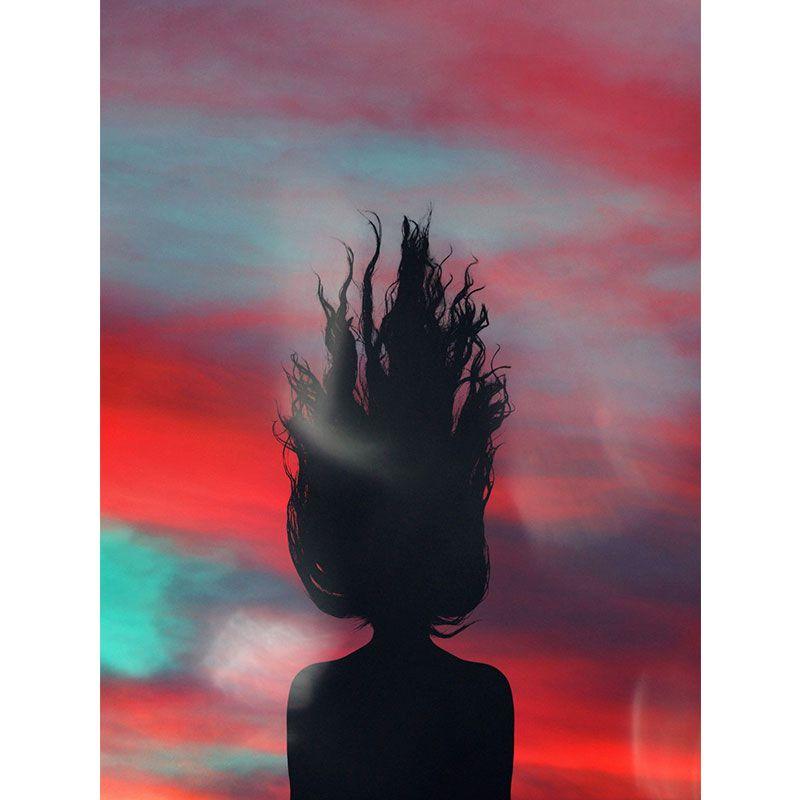 Quadro decorativo em canvas cabelos ao vento