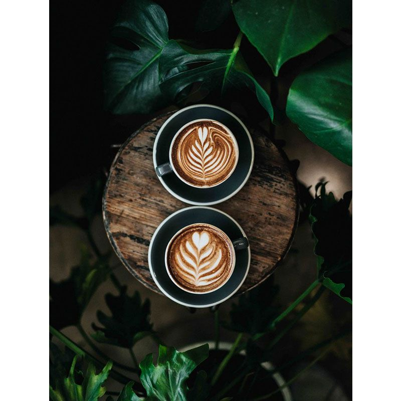 Quadro decorativo em canvas café e corações