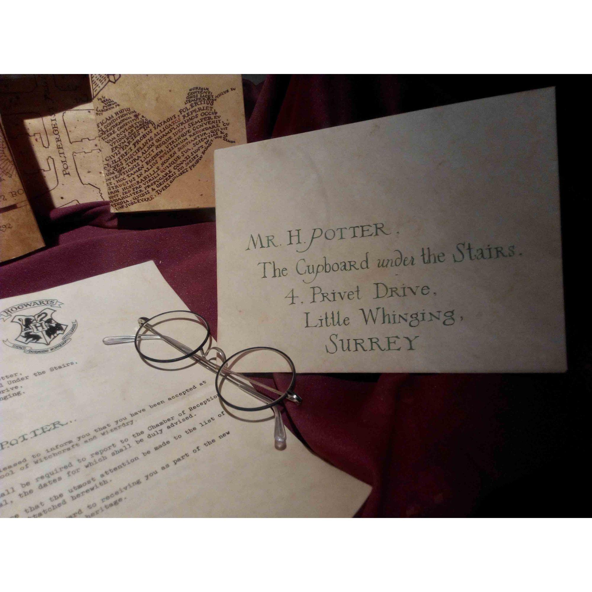 Quadro decorativo em canvas Carta de Hogwart