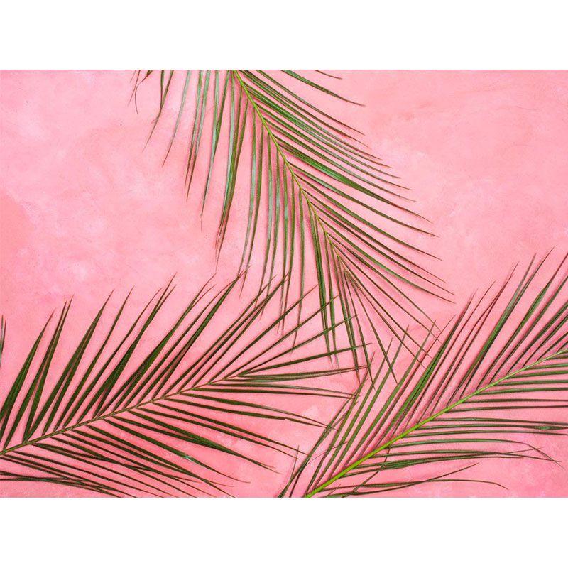 Quadro decorativo em canvas folhas de Areca-bambu