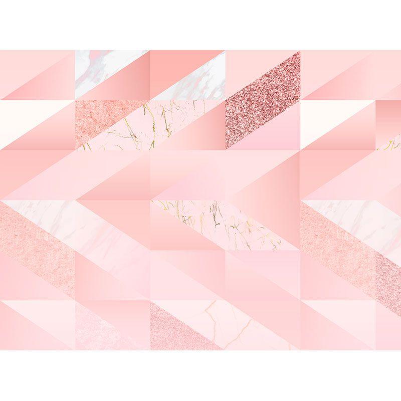 Quadro decorativo em canvas geométrico Rosa