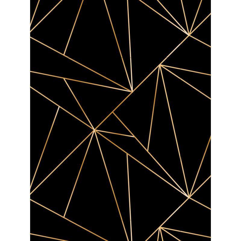 Quadro decorativo em canvas Linhas Douradas
