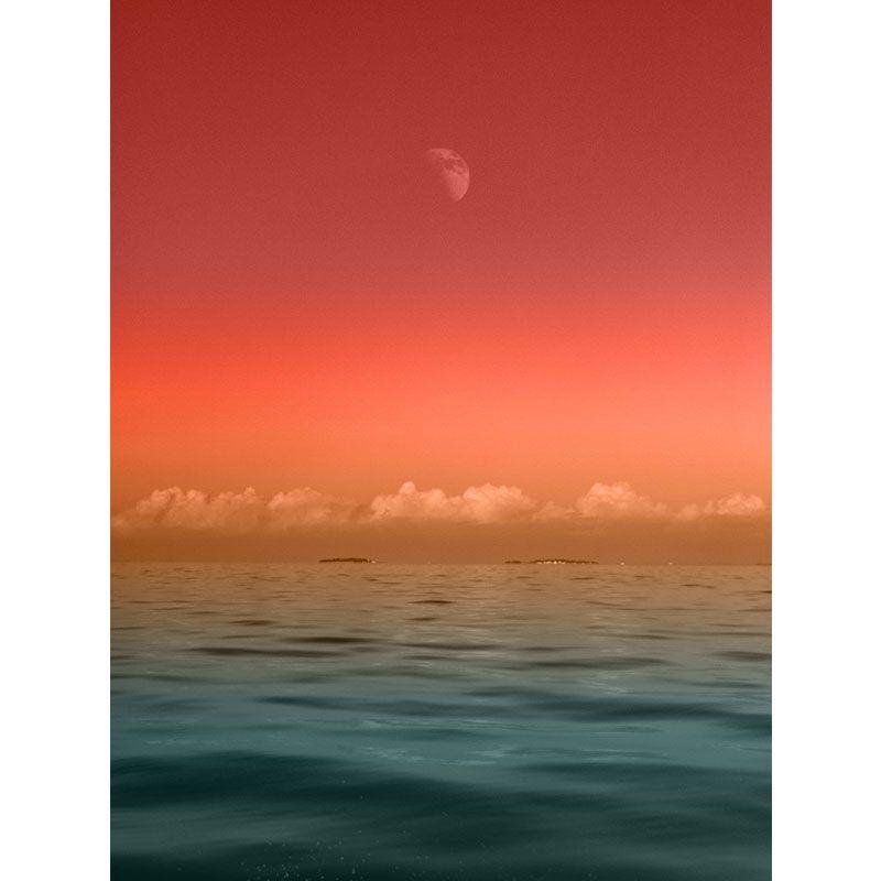 Quadro decorativo em canvas Lua sob o mar