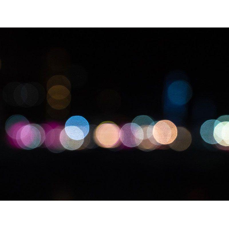 Quadro decorativo em canvas luzes desfocadas