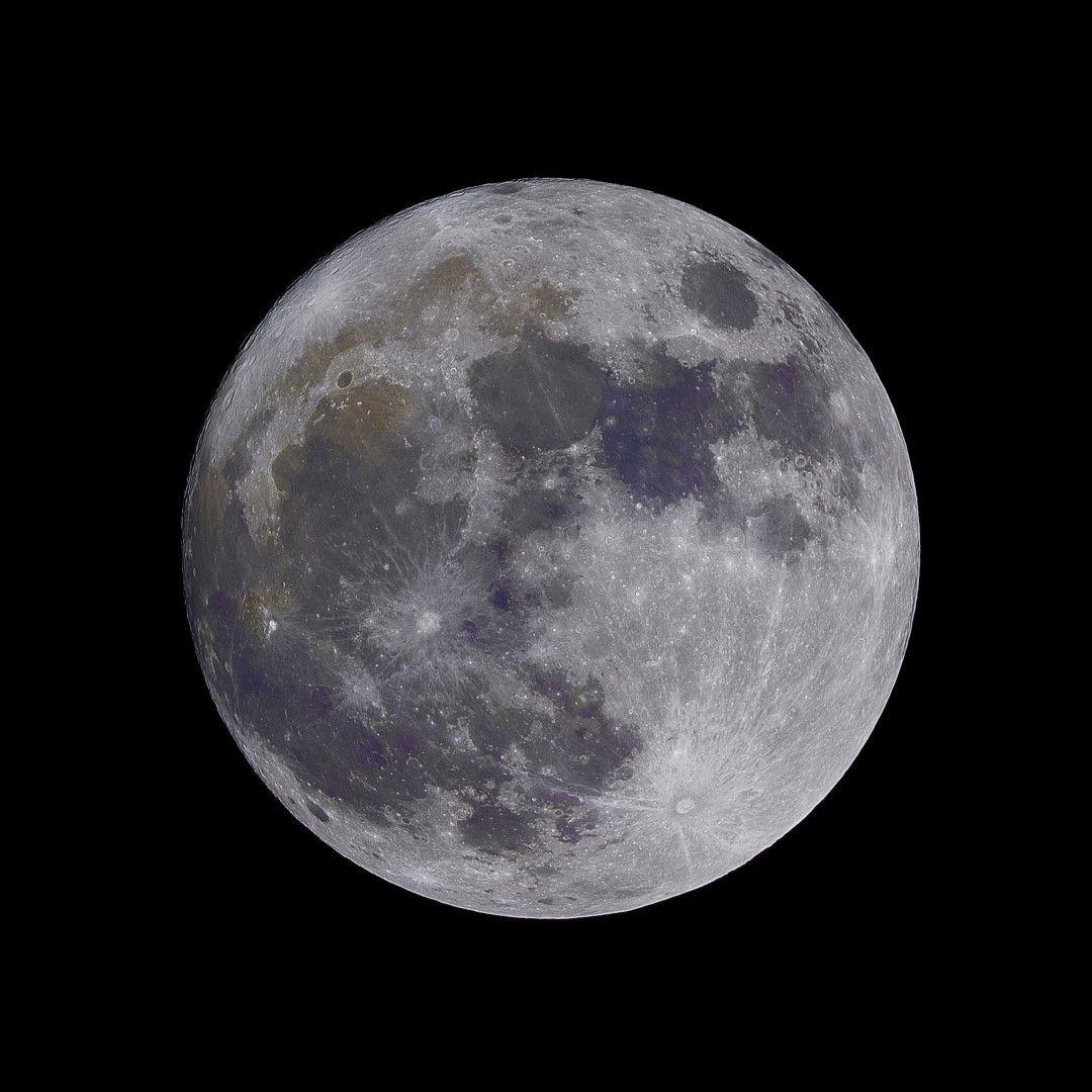 Quadro decorativo em canvas noite Lua Cheia