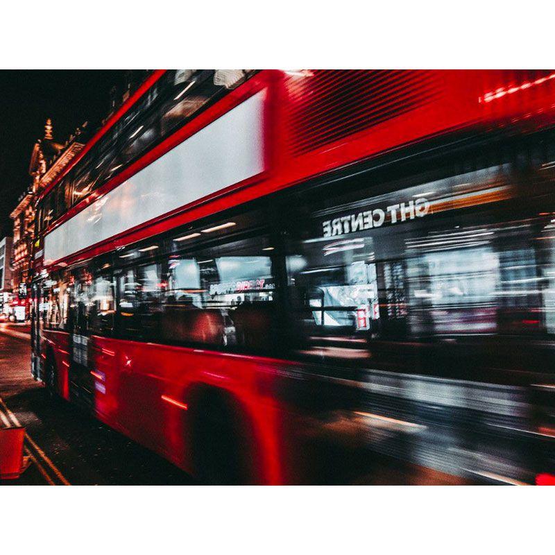 Quadro decorativo em canvas ônibus vermelho londres