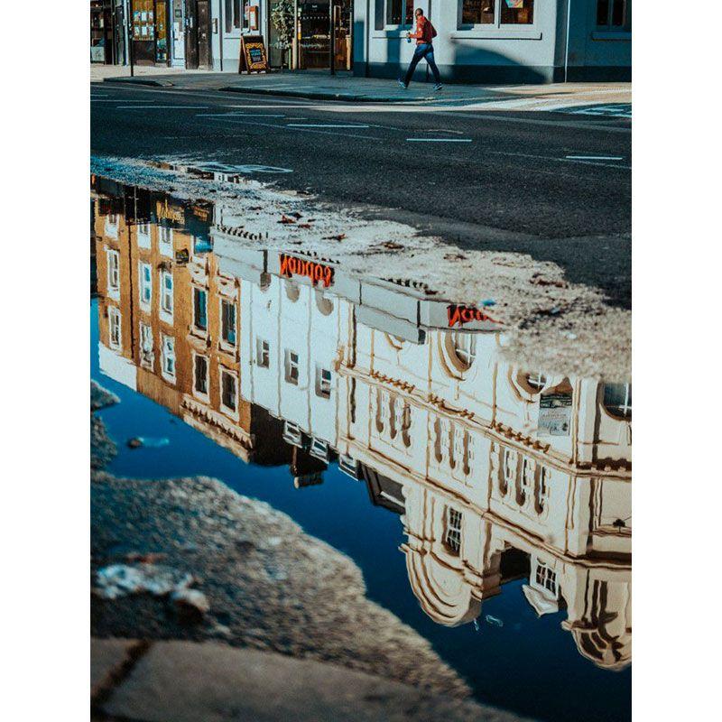 Quadro decorativo em canvas reflexo da cidade