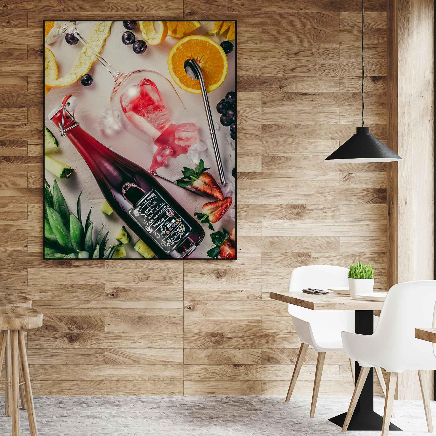Quadro decorativo em canvas Sangria Espanhola