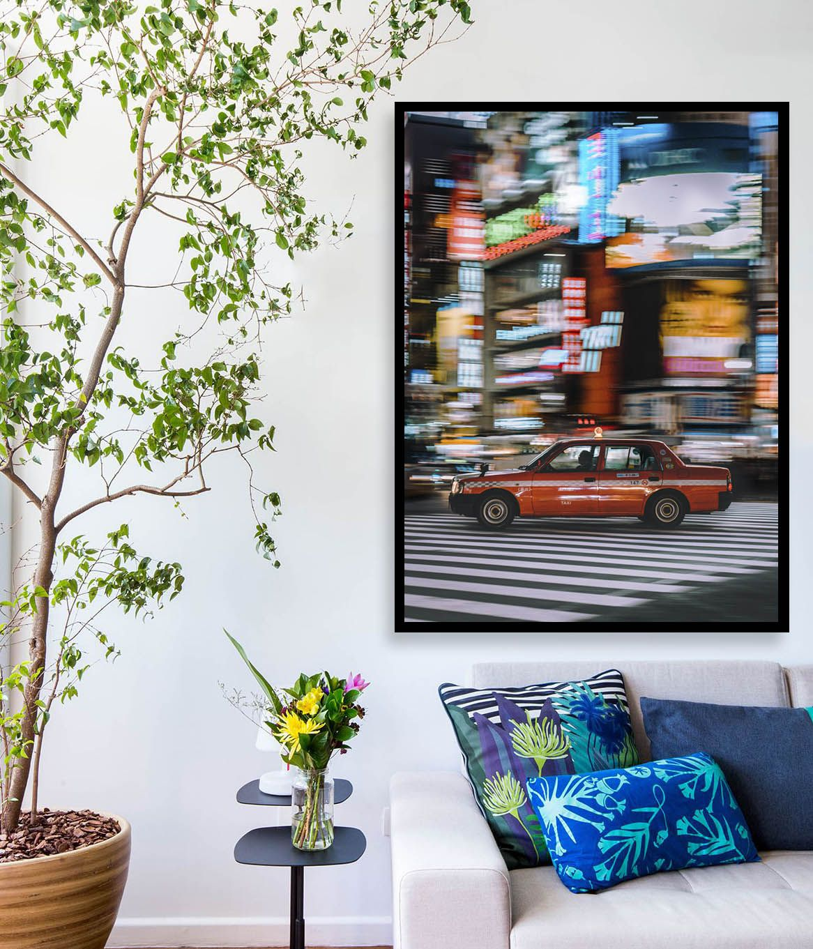 Quadro decorativo em canvas taxi new york