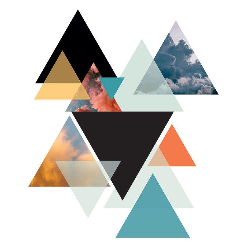 Quadro decorativo em canvas - Triangle sky