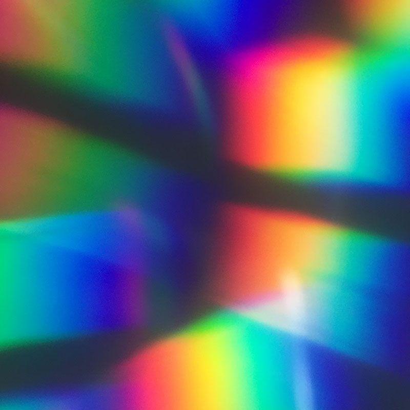 Quadro em canvas abstrato cores prismáticas
