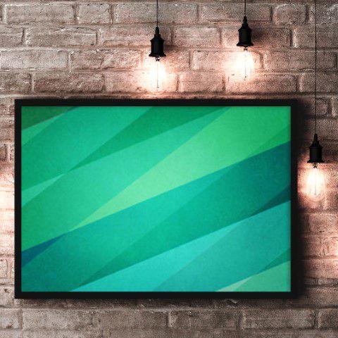 The green lines, quadro impresso em teciso canvas
