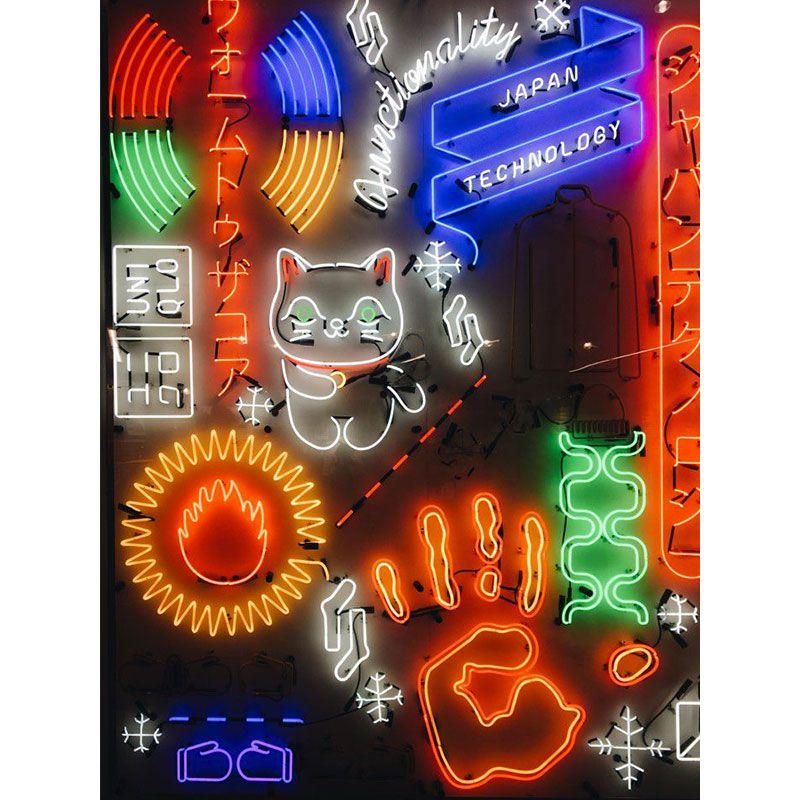 Tokyo Neon Quadro decorativo em canvas