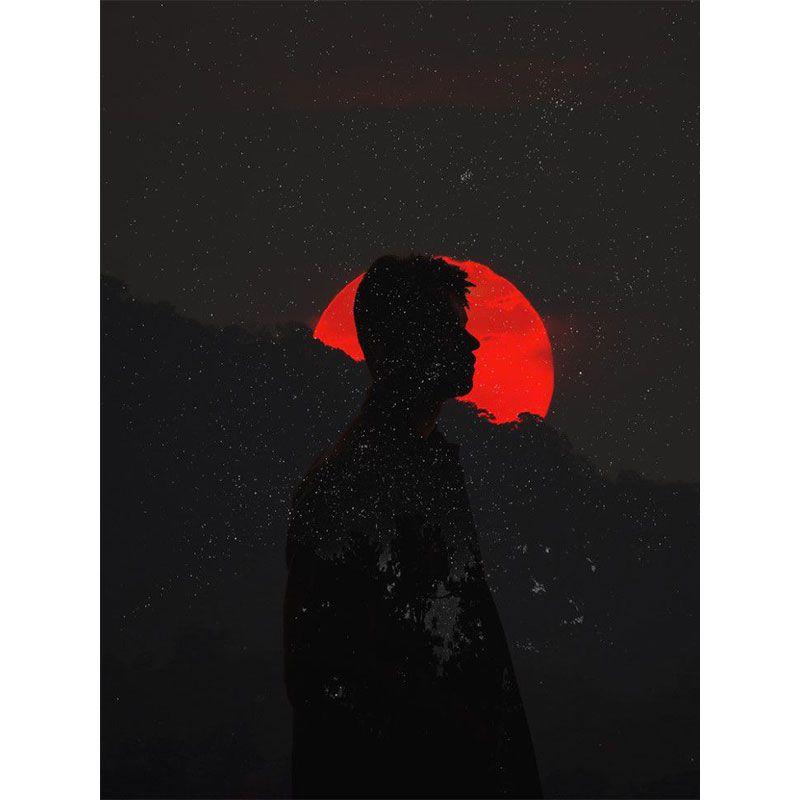 Total eclipse - Quadro decorativo em canvas