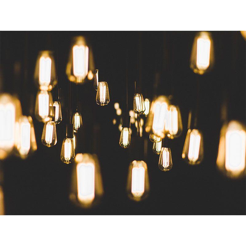Yellow Lamps - Quadro decorativo em canvas