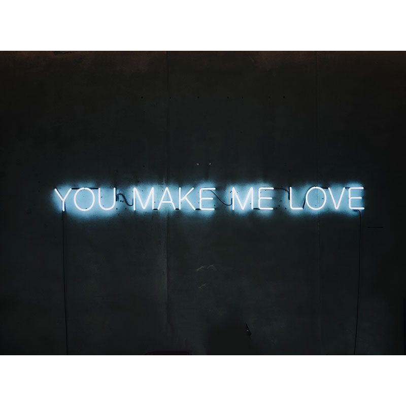 YOU MAKE ME LOVE - Quadro decorativo em canvas