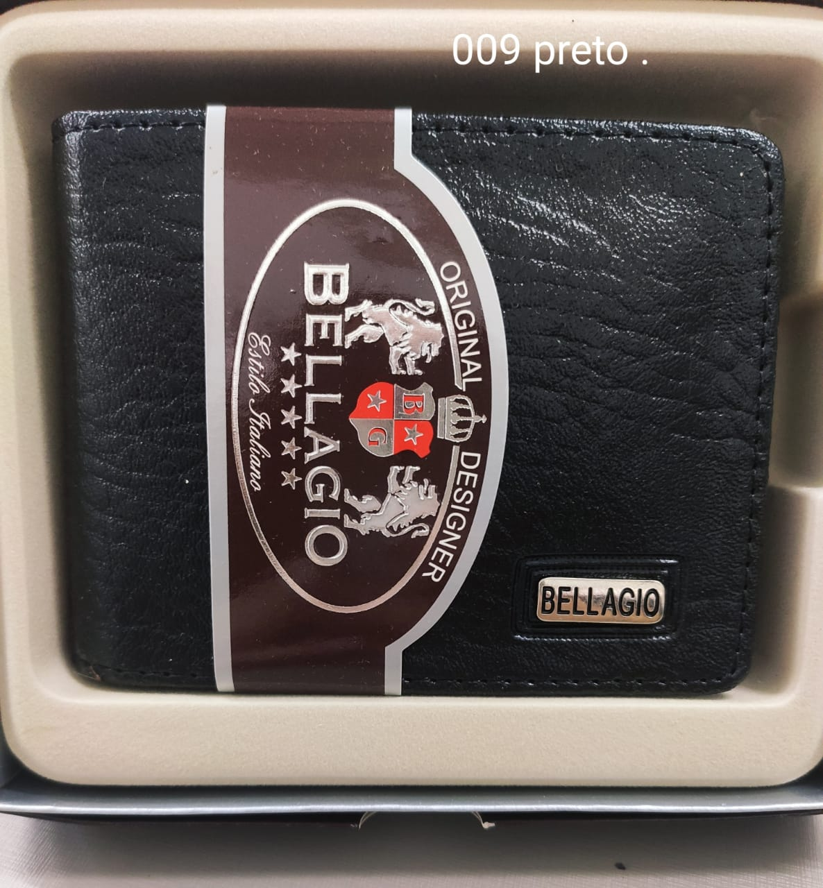 009 Carteira Masculina Bellagio Couro Sintético PU