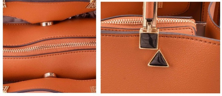 5602 Bolsa de Ombro Golden Fênix Couro PU