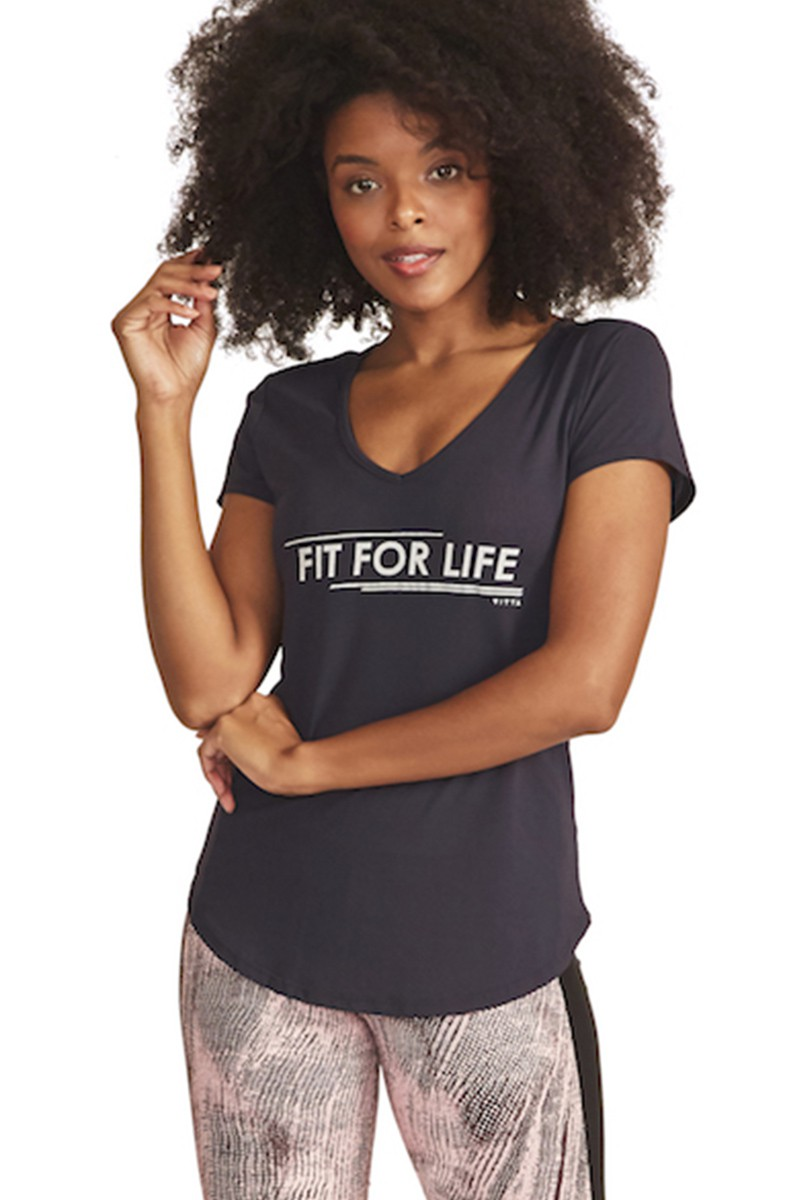 Blusa Fit For Life Cor PRETO
