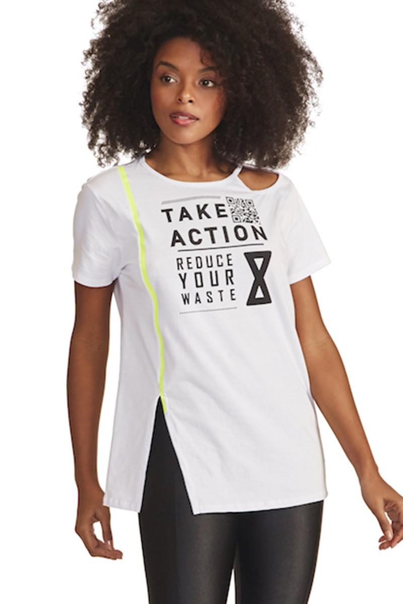 Blusa Take Action  Cor BRANCO